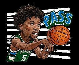 NBA Superstars sticker #9573300