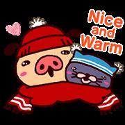 สติ๊กเกอร์ไลน์ PANPAKA PANTS ฤดูหนาว