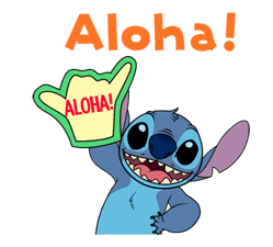 Animated Stitch (Rowdy) sticker #10116816