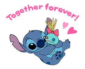 Animated Stitch (Rowdy) sticker #10116825