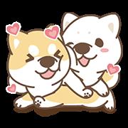 สติ๊กเกอร์ไลน์ Shiba Inu Love