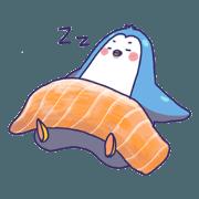สติ๊กเกอร์ไลน์ [Big Sticker] Hungry Penguin