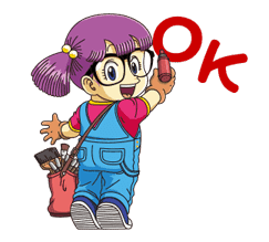 Dr.Slump -Arale- Animated Stickers sticker #10346357