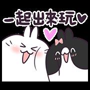 สติ๊กเกอร์ไลน์ BossTwo Rabbits Love to Chat! 2
