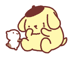 Animated Pompompurin sticker #10551361