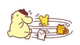 Animated Pompompurin sticker #10551371