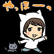สติ๊กเกอร์ไลน์ ครั้งแรก☆สติกเกอร์นักพากย์Hiroshi Kamiya