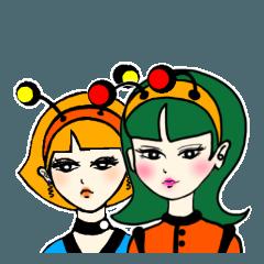 カチューシャ星人-橘 緑子&柊 アンジェリカ