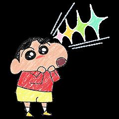 ほのぼの?♪クレヨンタッチしんちゃん | StampDB - LINEスタンプランキング