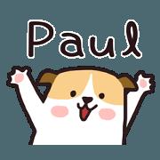 สติ๊กเกอร์ไลน์ 427 Paul
