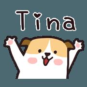 สติ๊กเกอร์ไลน์ 429 Tina