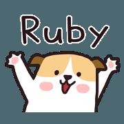 สติ๊กเกอร์ไลน์ 430 Ruby