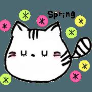 สติ๊กเกอร์ไลน์ little cat life spring
