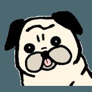 สติ๊กเกอร์ไลน์ Pug Pug Life
