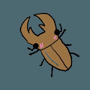 สติ๊กเกอร์ไลน์ Lovely insects Stag1 by Mr.N