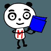 สติ๊กเกอร์ไลน์ Eyebrows Panda Sticker to use friends