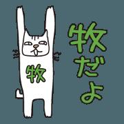สติ๊กเกอร์ไลน์ Only for Mr. Maki Banzai Cat