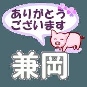 สติ๊กเกอร์ไลน์ Kaneoka's.Conversation Sticker.