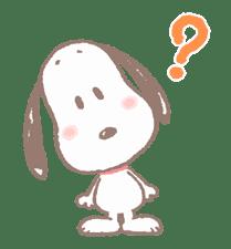 Lovely Snoopy sticker #11307542