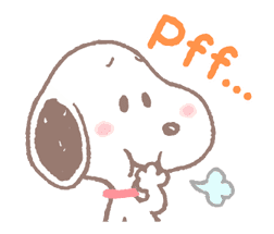 Lovely Snoopy sticker #11307544