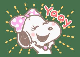 Lovely Snoopy sticker #11307545