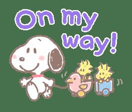 Lovely Snoopy sticker #11307556