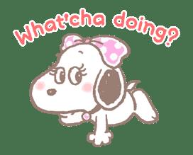 Lovely Snoopy sticker #11307558