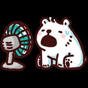 สติ๊กเกอร์ไลน์ หมีขาวแบค แบค : ร๊อนร้อน