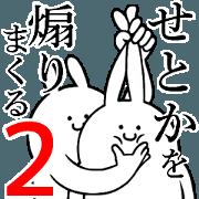 สติ๊กเกอร์ไลน์ Rabbits feeding2[Setoka]