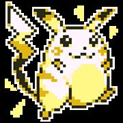 สติ๊กเกอร์ไลน์ Pokémon ลายพิกเซล พร้อมเสียง!