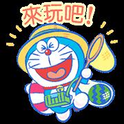 สติ๊กเกอร์ไลน์ Doraemon's Moving Summer Vacation