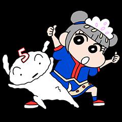 きゃりーぱみゅぱみゅ×クレヨンしんちゃん | StampDB - LINEスタンプランキング