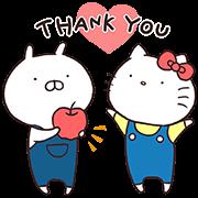 สติ๊กเกอร์ไลน์ Hello Kitty × Usamaru
