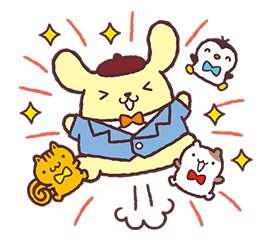 Pompompurin Pop-Up Stickers sticker #12887974