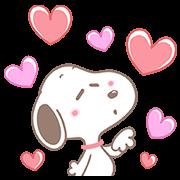 สติ๊กเกอร์ไลน์ Lovely Snoopy Pop-Up Stickers