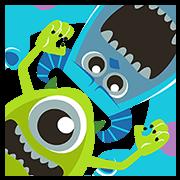 สติ๊กเกอร์ไลน์ Monsters, Inc. สติกเกอร์ป๊อปอัพ