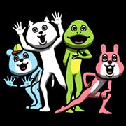 สติ๊กเกอร์ไลน์ Dear Animal Costume: Creepy Creepers