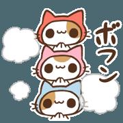 สติ๊กเกอร์ไลน์ NINJA CAT! OFFICIAL STICKER 2