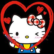 สติ๊กเกอร์ไลน์ Hello Kitty Lovely Pop-Up Stickers