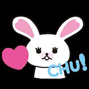 สติ๊กเกอร์ไลน์ กระต่ายขาวโมฟี่ ดุ๊กดิ๊กได้ Part 3