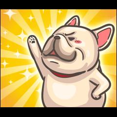 สติ๊กเกอร์ไลน์ French Bulldog-PIGU: Movin' and Barkin'