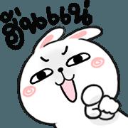 สติ๊กเกอร์ไลน์ N9: กระต่ายเชียร์ ฮั่นแน่!!!
