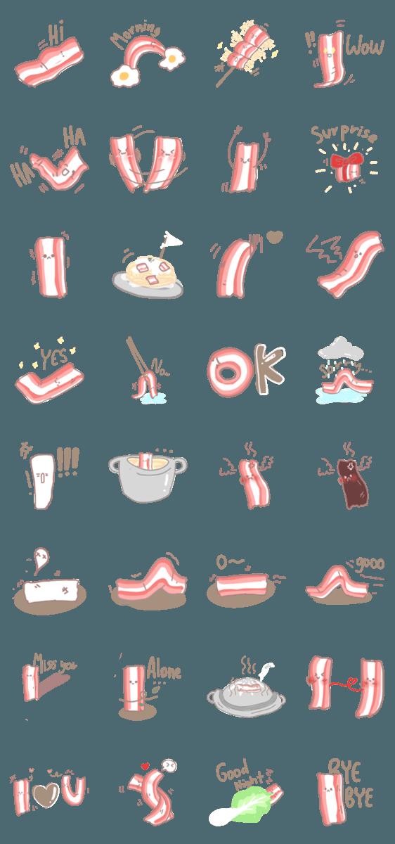 สติ๊กเกอร์ไลน์ Bacon lover