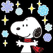 สติ๊กเกอร์ไลน์ Wonderful Winter Snoopy Pop-Up Stickers