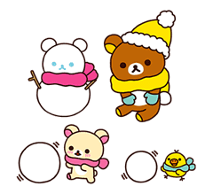 Rilakkuma Winter Holiday Pop-Ups sticker #14227160