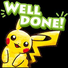 สติ๊กเกอร์ไลน์ Pokémon ชุดชีวิตประจำวัน