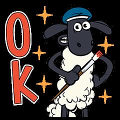 สติ๊กเกอร์ไลน์ Shaun the Sheep ป๊อปอัพเด้งดึ๋ง