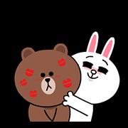 สติ๊กเกอร์ไลน์ บราวน์&โคนี่☆หัวใจเลิฟๆ