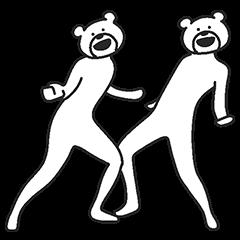 けたたましくとびだすクマ | StampDB - LINEスタンプランキング