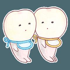 สติ๊กเกอร์ไลน์ Picture book baby teeth
